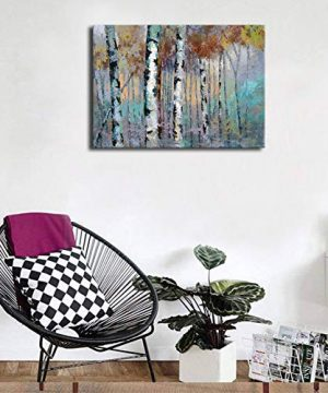ArteWOODS Abstract Wall Art Birch Forest Vintage Canvas Pictures Modern Abstract Landscape Canvas Artwork Rustic Contemporary Wall Art 20 X 28 Framed Ready To Hang 0 2 300x360