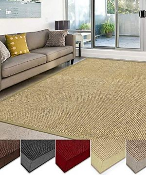 Casa Pura Sisal Rug Runner 100 Natural Fiber Area Rug Non Skid Rustic Entryway Rug Living Room Carpet Or Kitchen Rugs And Sizes Natural 6x9 0 1 300x360