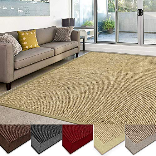 Casa Pura Sisal Rug Runner 100 Natural Fiber Area Rug Non Skid Rustic Entryway Rug Living Room Carpet Or Kitchen Rugs And Sizes Natural 6x9 0 1