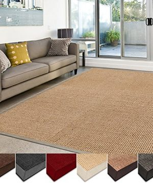 Casa Pura Sisal Rug Runner 100 Natural Fiber Area Rug Non Skid Rustic Entryway Rug Living Room Carpet Or Kitchen Rugs And Sizes Natural 6x9 0 3 300x360