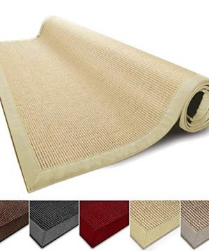 Casa Pura Sisal Rug Runner 100 Natural Fiber Area Rug Non Skid Rustic Entryway Rug Living Room Carpet Or Kitchen Rugs And Sizes Natural 6x9 0 300x360