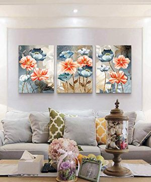 Farmhouse Wall Art For Living Room Family Kitchen Bedroom Decoration 3 Piece Bathroom Wall Decor Red Watercolor Flowers Abstract Painting Office Canvas Pictures Artworks Modern Home Wall Decorations 0 0 300x360