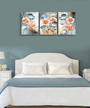 Farmhouse Wall Art For Living Room Family Kitchen Bedroom Decoration 3 Piece Bathroom Wall Decor Red Watercolor Flowers Abstract Painting Office Canvas Pictures Artworks Modern Home Wall Decorations 0 3 300x360