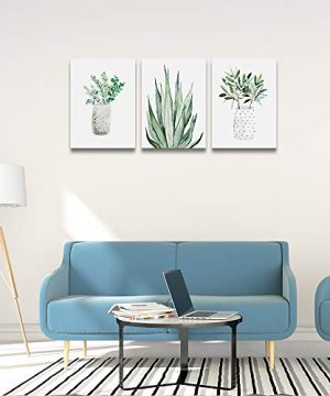 Farmhouse Wall Art Painting For Dining Room Bathroom Abstract Canvas Art Family Wall Decor For Bedroom Kitchen Wall Decoration Living Room Decor Art Green Leaf Pictures Artwork For Home Walls 3 Piece 0 4 300x360