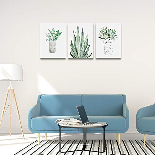 Farmhouse Wall Art Painting For Dining Room Bathroom Abstract Canvas Art Family Wall Decor For Bedroom Kitchen Wall Decoration Living Room Decor Art Green Leaf Pictures Artwork For Home Walls 3 Piece 0 4
