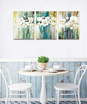 Farmhouse Wall Art Painting For Dining Room Bathroom Abstract Canvas Art Family Wall Decor For Bedroom Kitchen Office Wall Decoration Living Room Decor Flowers Pictures Artwork For Home Walls 3 Piece 0 2 300x360
