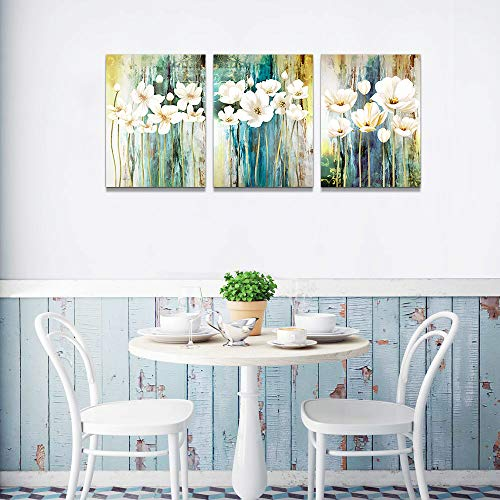 Farmhouse Wall Art Painting For Dining Room Bathroom Abstract Canvas Art Family Wall Decor For Bedroom Kitchen Office Wall Decoration Living Room Decor Flowers Pictures Artwork For Home Walls 3 Piece 0 2