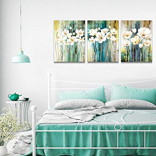 Farmhouse Wall Art Painting For Dining Room Bathroom Abstract Canvas Art Family Wall Decor For Bedroom Kitchen Office Wall Decoration Living Room Decor Flowers Pictures Artwork For Home Walls 3 Piece 0 3