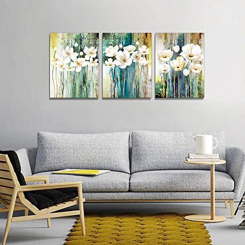 Farmhouse Wall Art Painting For Dining Room Bathroom Abstract Canvas Art Family Wall Decor For Bedroom Kitchen Office Wall Decoration Living Room Decor Flowers Pictures Artwork For Home Walls 3 Piece 0 4