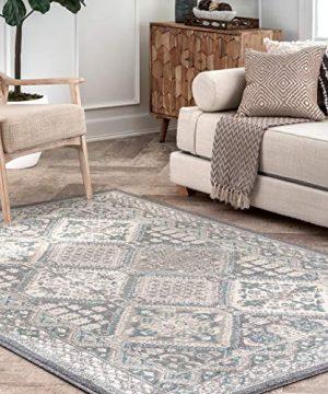 NuLOOM Becca Vintage Tile Area Rug 5 X 8 Charcoal 0 300x360
