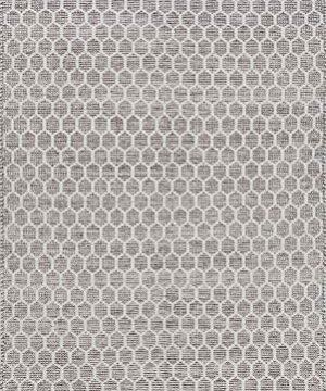 NuLOOM BeeHive Tassel Wool Rug 6 X 9 Grey 0 0 300x360