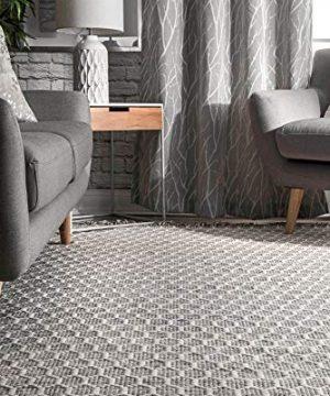 NuLOOM BeeHive Tassel Wool Rug 6 X 9 Grey 0 1 300x360