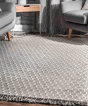 NuLOOM BeeHive Tassel Wool Rug 6 X 9 Grey 0 300x360