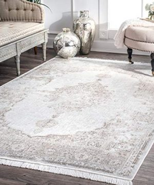 NuLOOM Cantrell Vintage Medallion Area Rug 6 X 9 Ivory 0 300x360