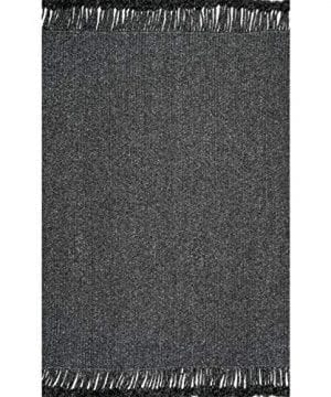NuLOOM Courtney Braided IndoorOutdoor Area Rug 4 X 6 Charcoal 0 300x360