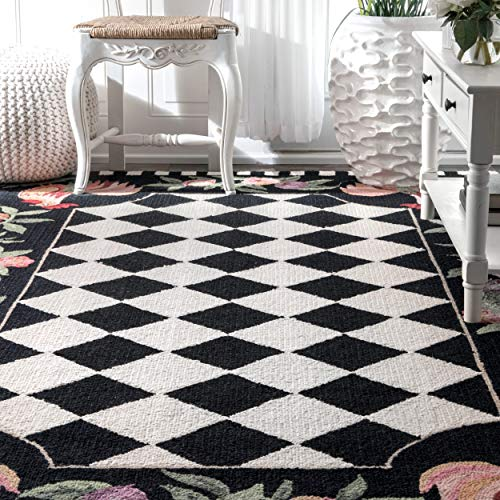 NuLOOM Farmhouse Rooster Area Rug 5 X 8 Black 0 1