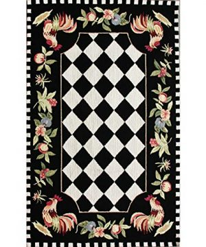 NuLOOM Farmhouse Rooster Area Rug 6 X 9 Black 0 0 300x360