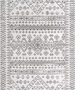NuLOOM Frances Moroccan Area Rug 4 X 6 Light Grey 0 1 300x360