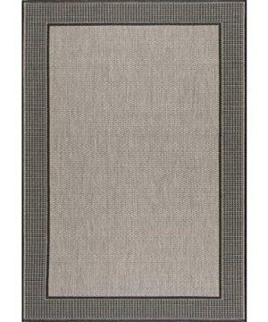NuLOOM Gris Border IndoorOutdoor Area Rug 5 3 X 7 6 Grey 0 0 300x360