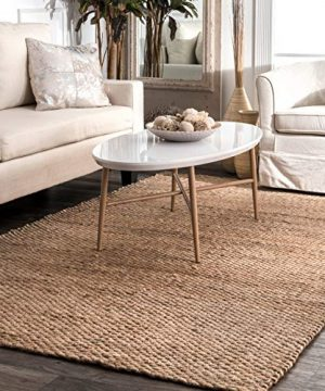 NuLOOM Hailey Handwoven Jute Rug 6 X 9 Natural 0 300x360