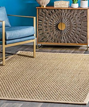 NuLOOM Hesse Seagrass Solid Outdoor Rug 3 X 5 Natural 0 300x360