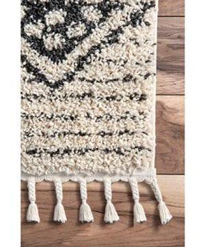 NuLOOM Janna Striped Shag Rug 4 X 6 Off White 0 2 300x360