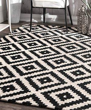 NuLOOM Kellee Contemporary Wool Area Rug 5 X 8 Black 0 300x360