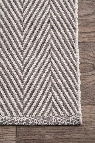NuLOOM Kimberely Hand Loomed Area Rug 4 X 6 Grey 0 0