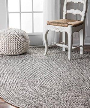 NuLOOM Lefebvre Braided IndoorOutdoor Area Rug 3 X 5 Light GreySalt And Pepper 0 2 300x360