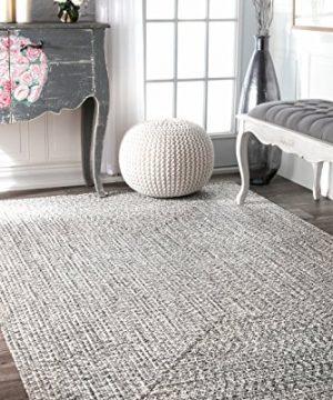 NuLOOM Lefebvre Braided IndoorOutdoor Area Rug 3 X 5 Light GreySalt And Pepper 0 300x360