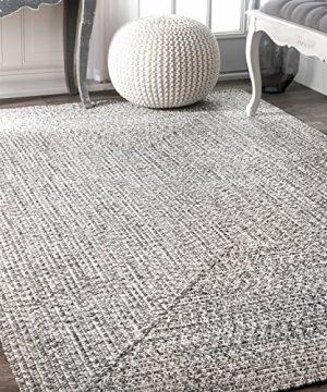 NuLOOM Lefebvre Braided IndoorOutdoor Area Rug 4 X 6 Light Grey 0 300x360