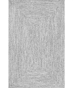 NuLOOM Lefebvre Braided IndoorOutdoor Area Rug 6 X 9 Light GreySalt And Pepper 0 0 300x360
