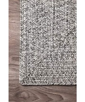 NuLOOM Lefebvre Braided IndoorOutdoor Area Rug 6 X 9 Light GreySalt And Pepper 0 2 300x360
