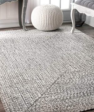 NuLOOM Lefebvre Braided IndoorOutdoor Area Rug 6 X 9 Light GreySalt And Pepper 0 300x360