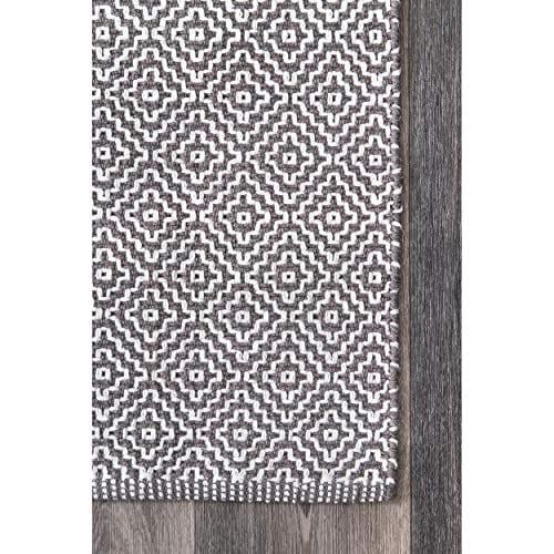 NuLOOM Lorretta Hand Loomed Area Rug 4 X 6 Grey 0 2