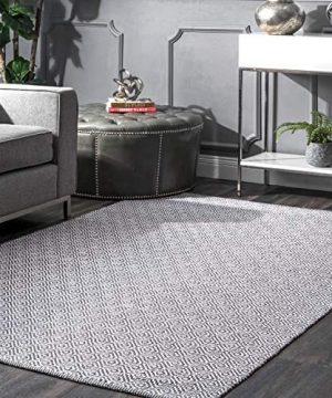 NuLOOM Lorretta Hand Loomed Area Rug 4 X 6 Grey 0 300x360
