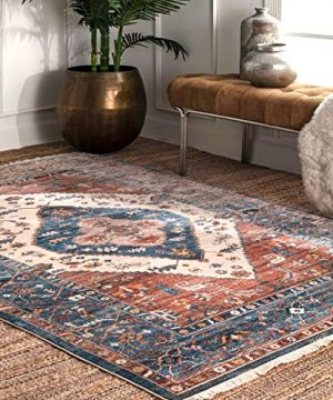 NuLOOM Mabel Tribal Area Rug 5 X 7 9 Rust 0 300x360