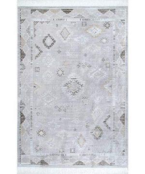 NuLOOM Maida Vintage Tribal Area Rug 6 X 9 Silver 0 0 300x360