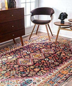 NuLOOM Meadow Vintage Vibrant Area Rug 3 X 5 Black 0 300x360