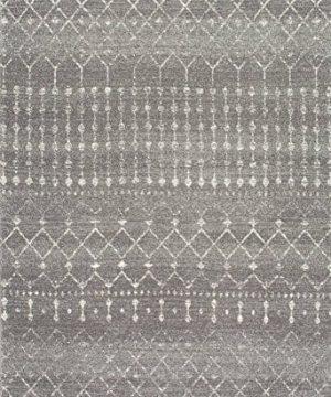 NuLOOM Moroccan Blythe Area Rug 4 X 6 Dark Grey 0 300x360