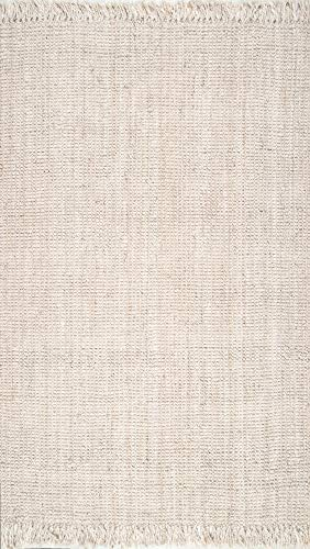 NuLOOM Natura Collection Chunky Loop Jute Rug 3 X 5 Off White 0 0