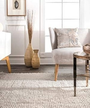 NuLOOM Natura Collection Chunky Loop Jute Rug 3 X 5 Off White 0 1 300x360