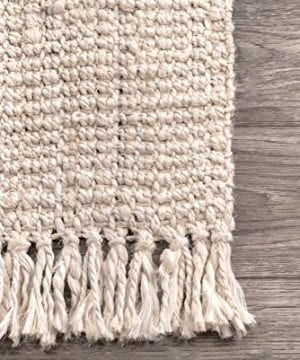 NuLOOM Natura Collection Chunky Loop Jute Rug 3 X 5 Off White 0 2 300x360