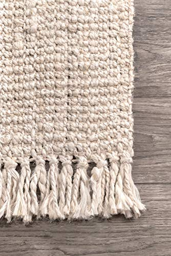 NuLOOM Natura Collection Chunky Loop Jute Rug 3 X 5 Off White 0 2