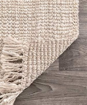 NuLOOM Natura Collection Chunky Loop Jute Rug 3 X 5 Off White 0 3 300x360