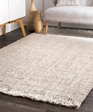 NuLOOM Natura Collection Chunky Loop Jute Rug 3 X 5 Off White 0 300x360