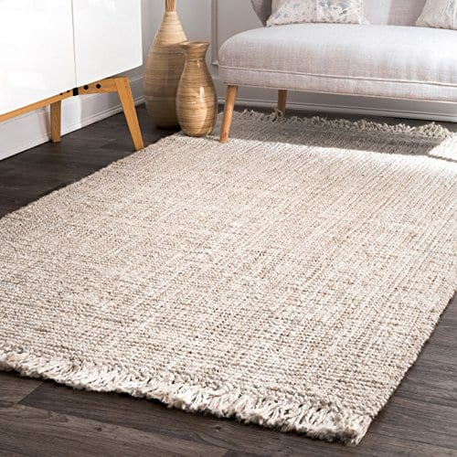 NuLOOM Natura Collection Chunky Loop Jute Rug 3 X 5 Off White 0