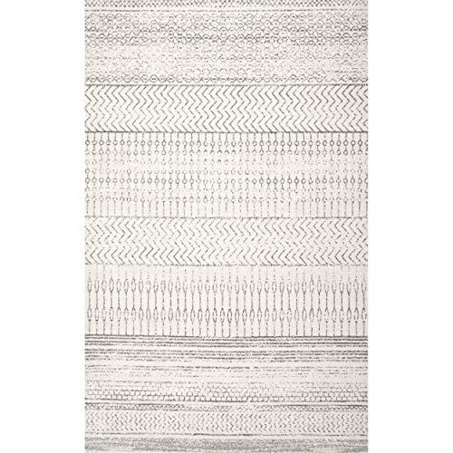 NuLOOM Nova Stripes Area Rug 8 X 10 Grey 0 0