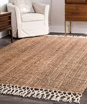 NuLOOM Raleigh Hand Woven Wool Rug 5 X 8 Natural 0 300x360