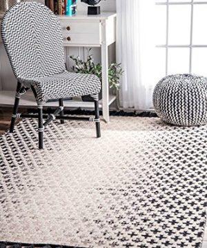 NuLOOM Renna Reversible Tassel Wool Rug 6 X 9 Ivory 0 300x360